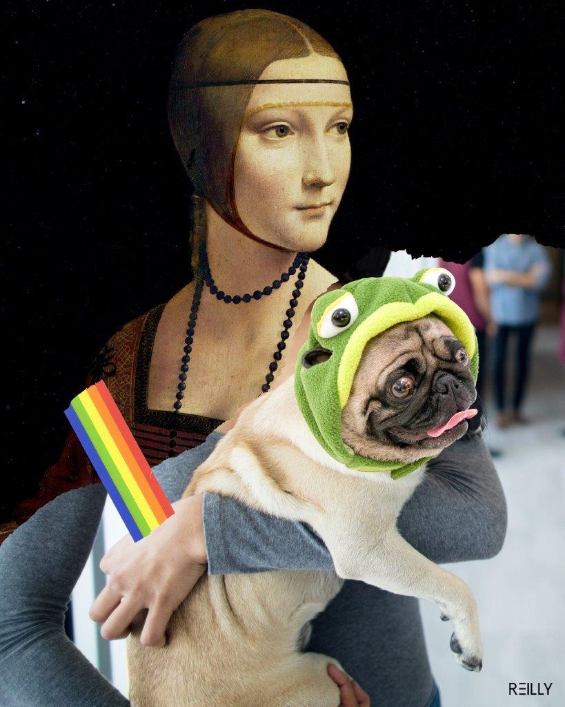 1570685604388_HEY REILLY_Lady with a Pug Frog STATIC.jpg